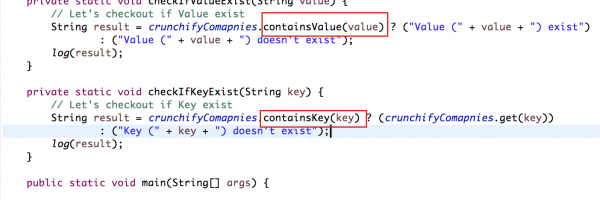Java Hashmap – containsKey(Object key) and containsValue(Object value) – Check if Key/Value Exists in Map