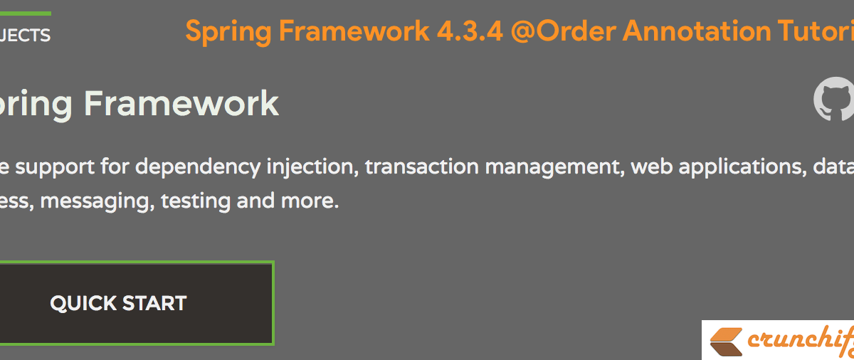 Spring Framework 4.3.4 @Order Annotation Tutorial – Sort Order for an Annotated Bean Component