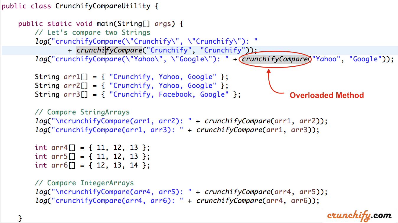 Crunchify Java Compare Utility