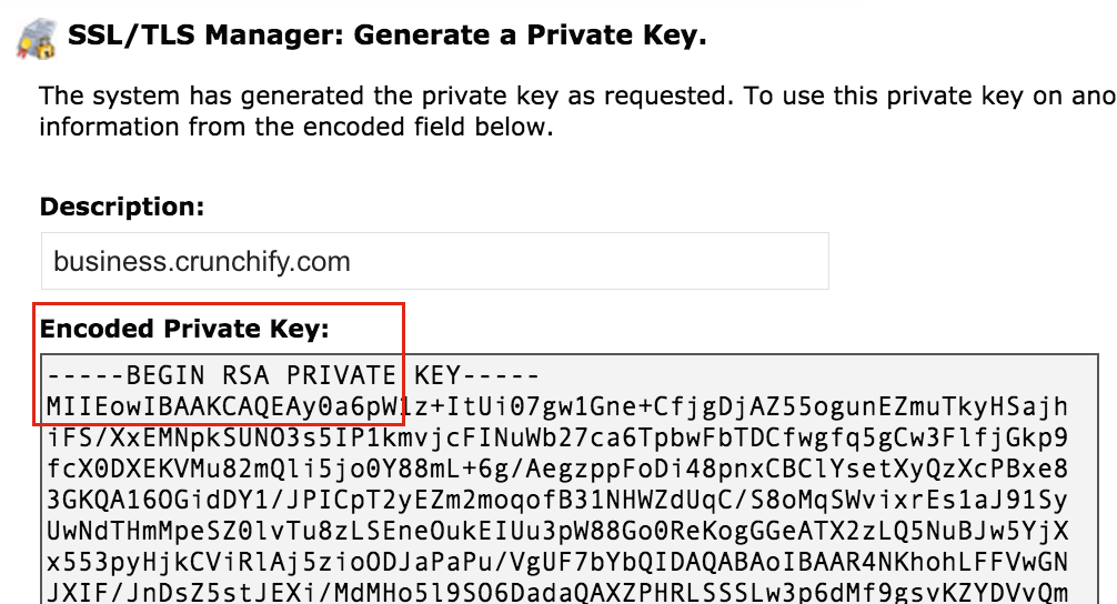 Check out Encoded-Private-key-Crunchify