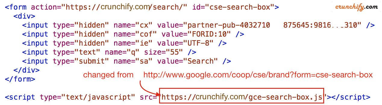 Crunchify-Search-box-Google-CSE-code