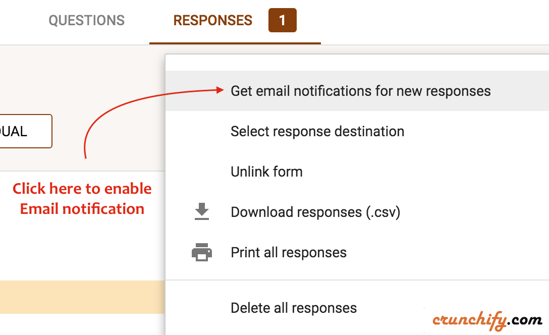 Google Forms - Get Email notification for new responses