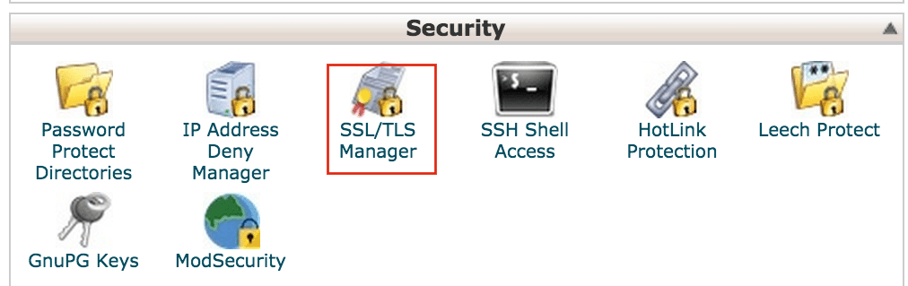 Login to cPanel and Click on SSL TSL Manager Crunchify