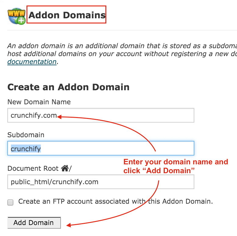 Provide all information and add your domain to cPanel