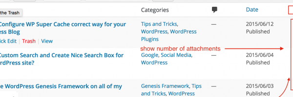 How to Add Column and Show Number of Attachments in WordPress Admin Panel