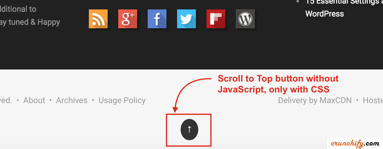 Simple-Scroll-to-Top-Button-without-Java-Script-Crunchify