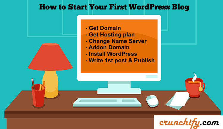 Start your first WordPress Blog - Crunchify Tips