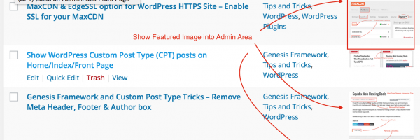 How to Show WordPress Featured Image in WordPress Admin Panel