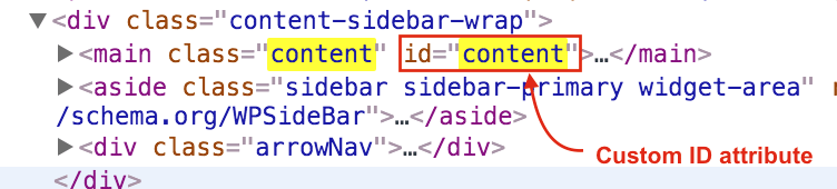 add-custom-attribute-idcontent-in-WordPress
