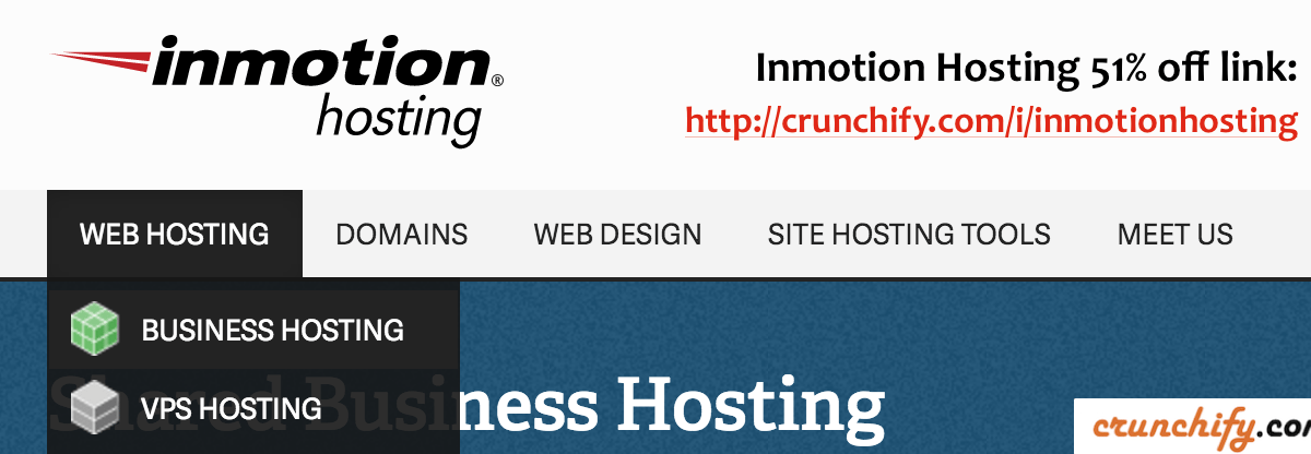 Inmotionhosting Review: Crunchify Exclusive: upto 51% off Web Hosting plans
