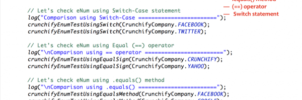 Java eNum Comparison using Equals (==) operator, Switch-Case statement and .equals() method – Complete Tutorial