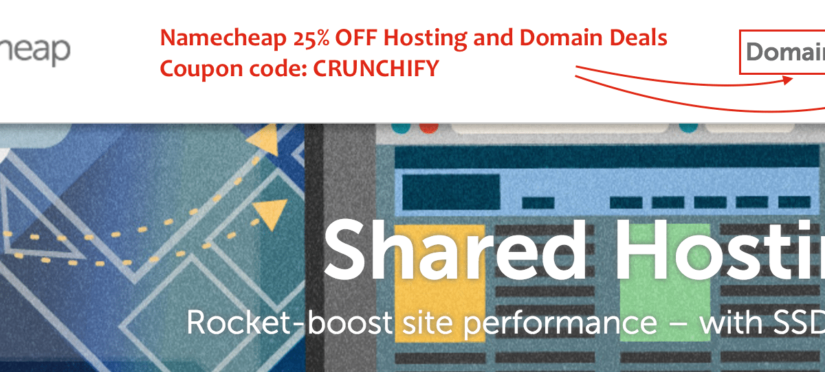 Namecheap Hosting Review: Crunchify Exclusive 25% off on Hosting and 10% off on Domain Coupon code: CRUNCHIFY