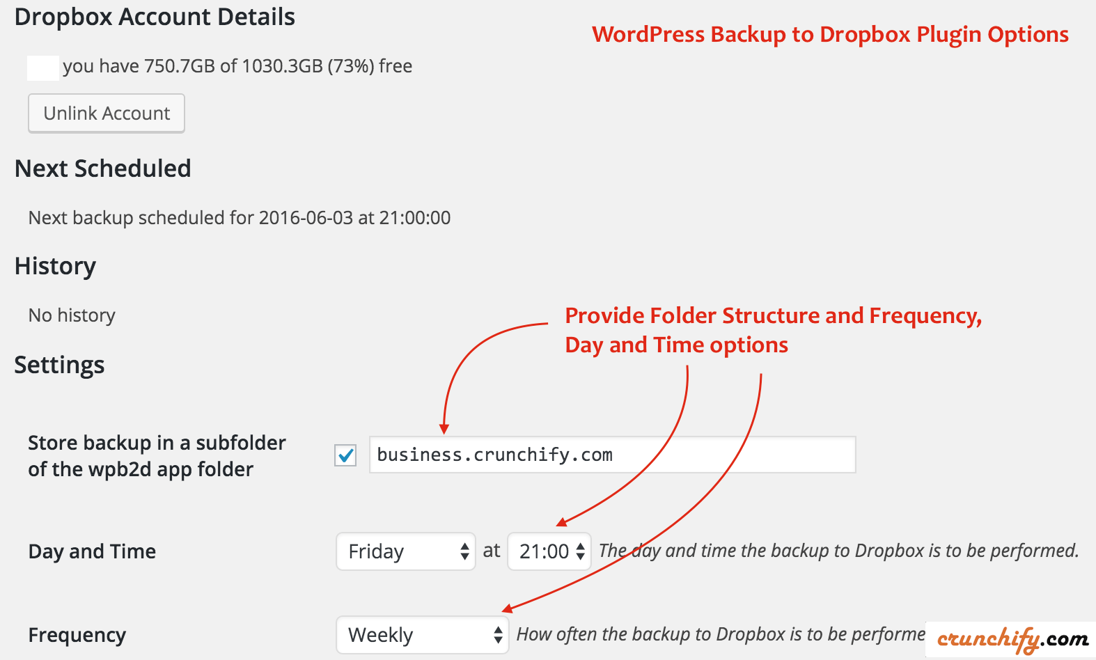 WordPress Backup to Dropbox - WordPress plugin review