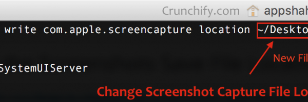 Mac OS X and change Command + Shift + 4 Screen Capture File Location