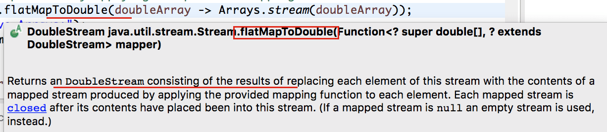 java.util.stream.Stream.flatMapToDouble - Java8 Crunchify Tips