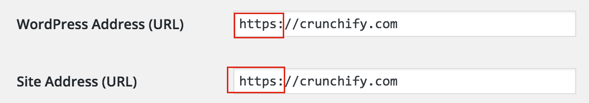 Change URL to https - Crunchify Tips
