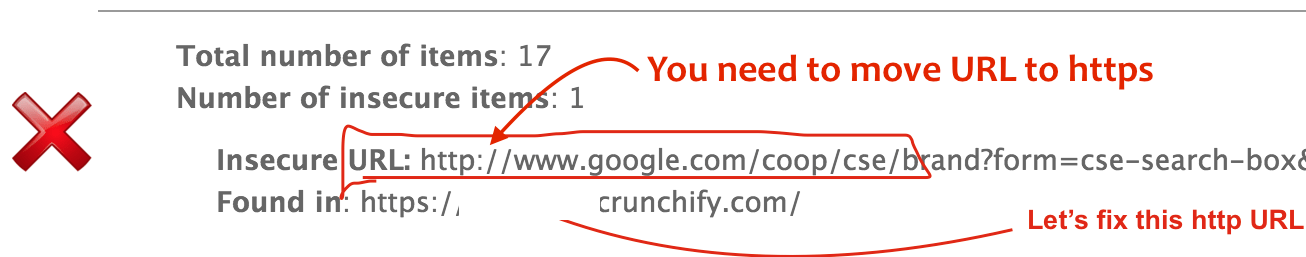 Fix why no pad lock http Mixed Content Error on HTTPS site - Crunchify