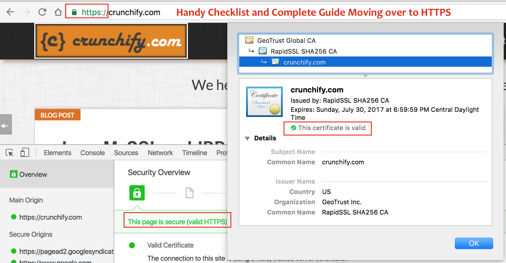 Handy Checklist and Complete Guide Moving over to HTTPS - Crunchify