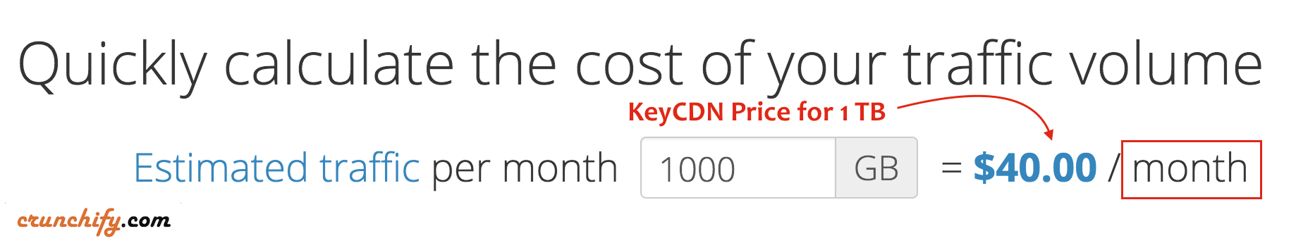 KeyCDN price for 1TB per Month - Crunchify Review