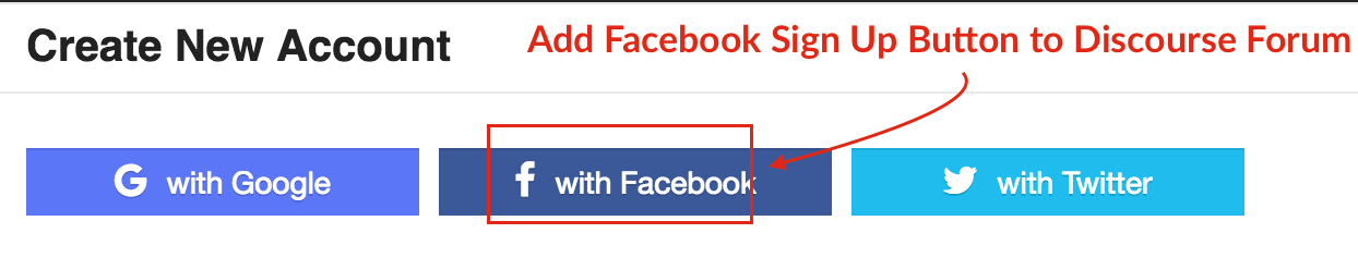 Add Facebook Sign Up Button to your Discourse Forum