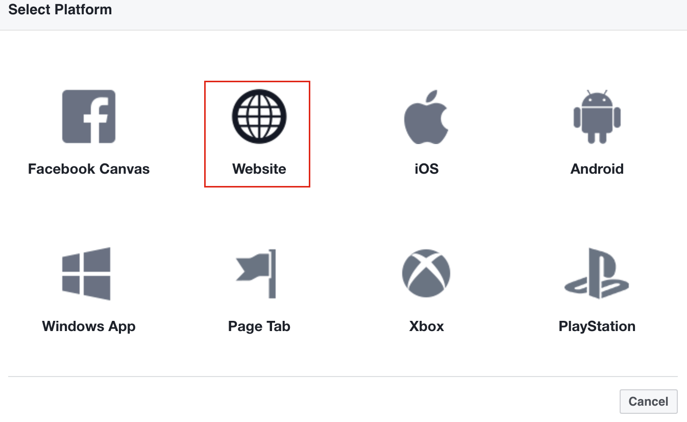 Add Platform from Facebook Basic Setup