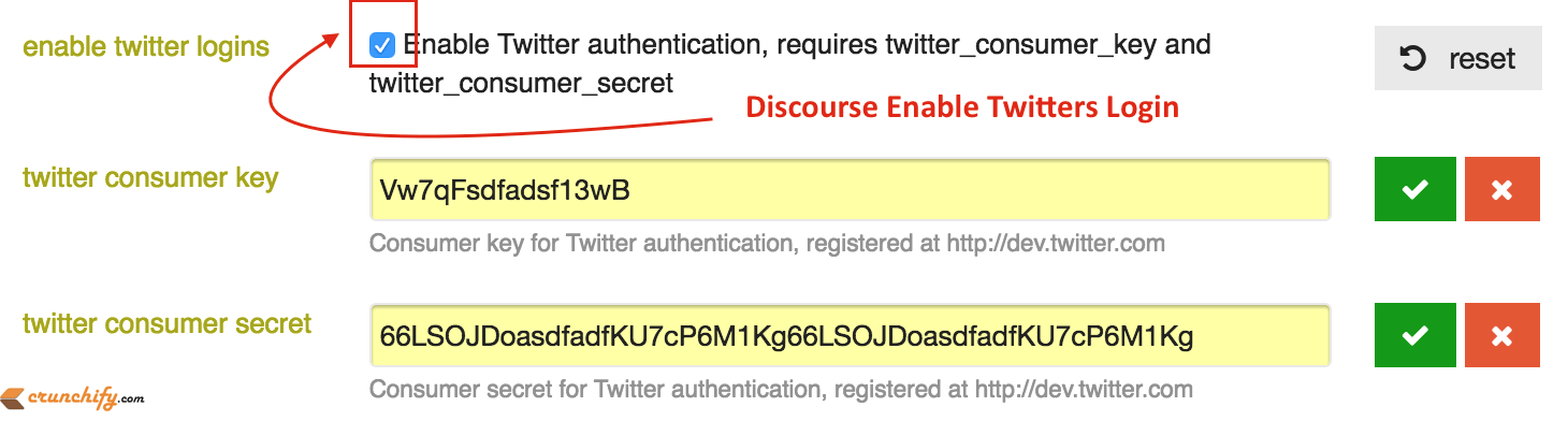 Discourse Enable Twitters Login