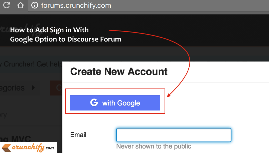 How to Add Sign in With Google Option to Discourse Forum