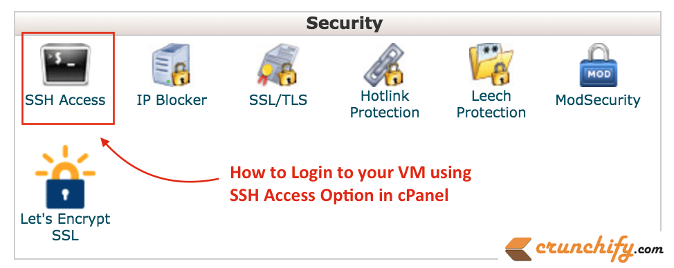 How to Login to your VM using SSH Access Option in cPanel