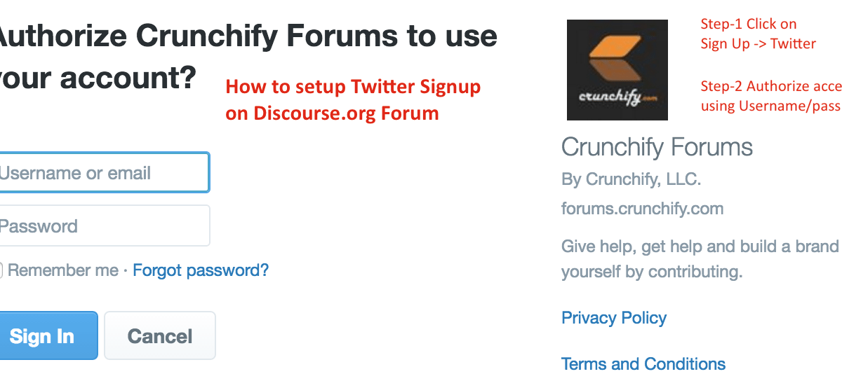 How to Add Twitter Signup Option (OAuth2) on Discourse.org forum – Detailed and Verified Steps