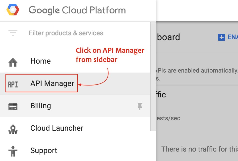 Toggle Over to API Manager