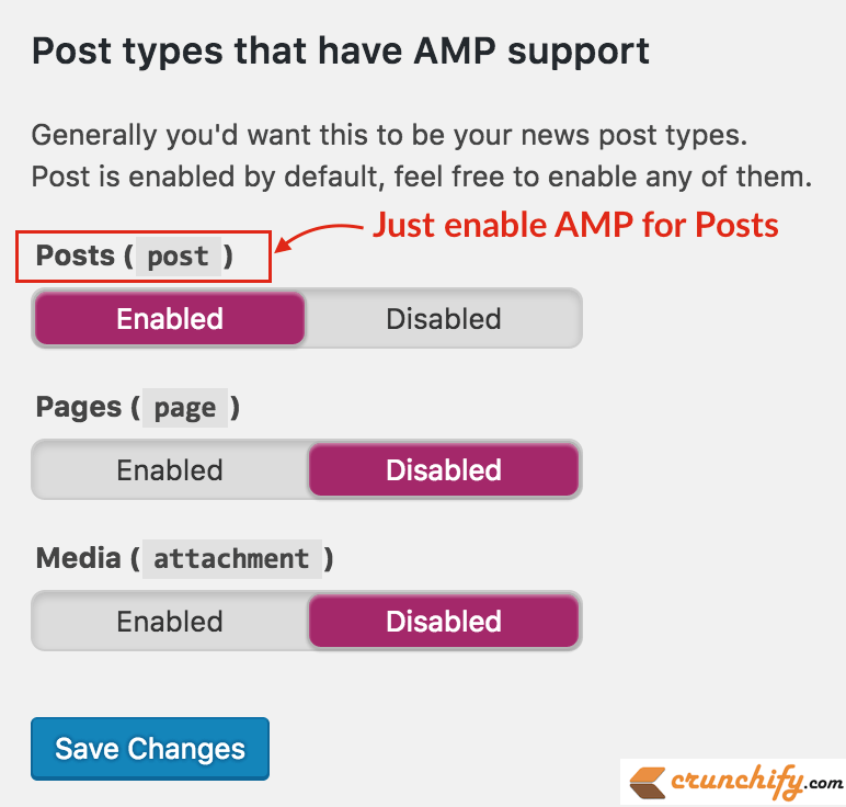 enable-amp-for-posts-only-crunchify-tips