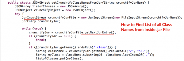 In Java How to Find List of all Class Names from inside .jar File? – Jar Class Finder Utility with Java Reflection