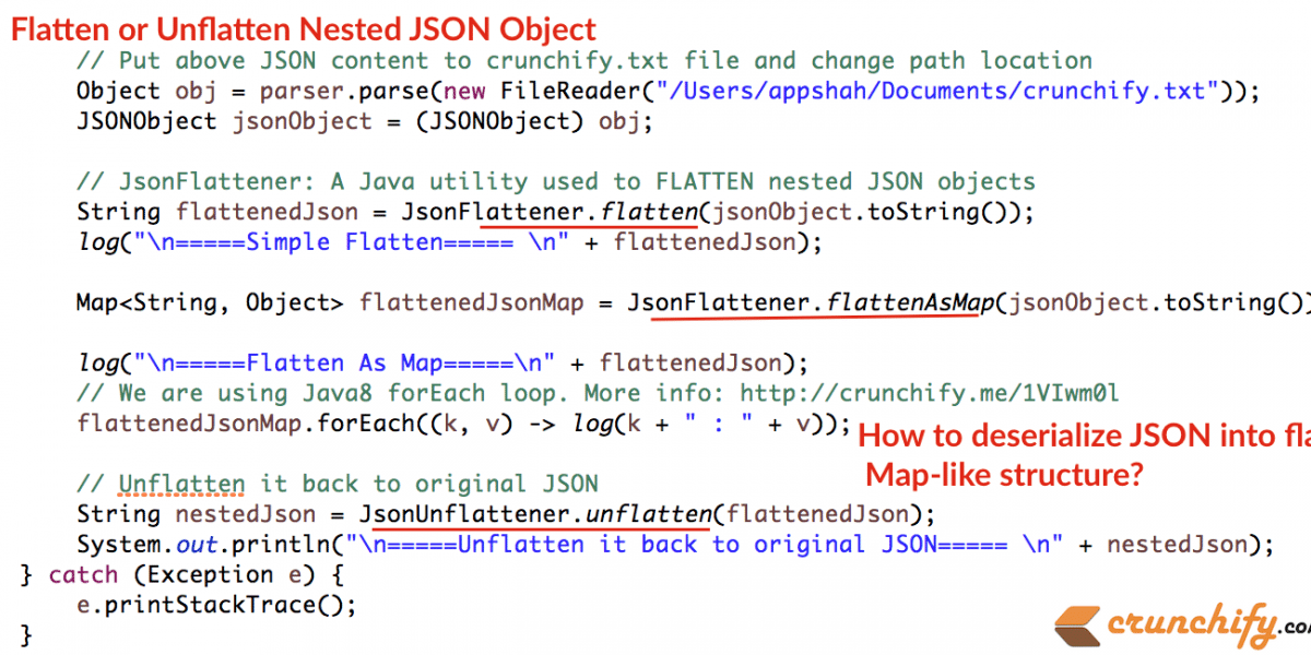 How to Flatten or Unflatten Complex JSON objects into Flat & Map-Like Structure in Java?