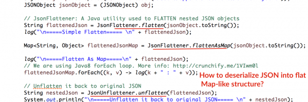 In Java How to Flatten or Unflatten Complex JSON objects into Flat & Map-Like Structure