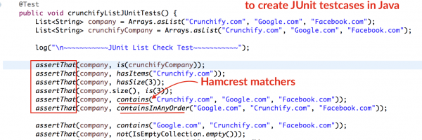 How to use Hamcrest assertThat() Matchers to Create JUnit testcases in Java – Complete Tutorial