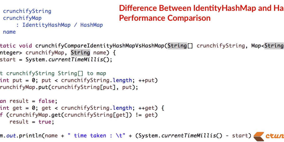 In Java What is a Difference Between IdentityHashMap and HashMap + Performance Comparison
