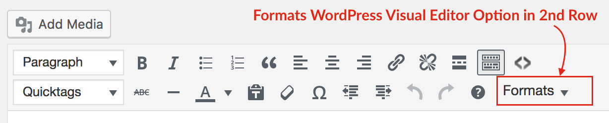formats-wordpress-visual-editor-option-in-2nd-row