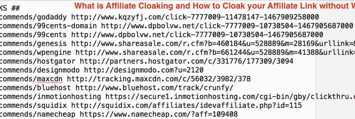 What is Affiliate Cloaking and How to Cloak your Affiliate Link without WordPress plugin using .htaccess redirection