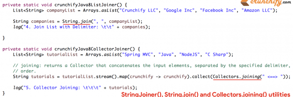 Java8 StringJoiner, String.join() and Collectors.joining() Tutorial with all Details – 5 Different ways