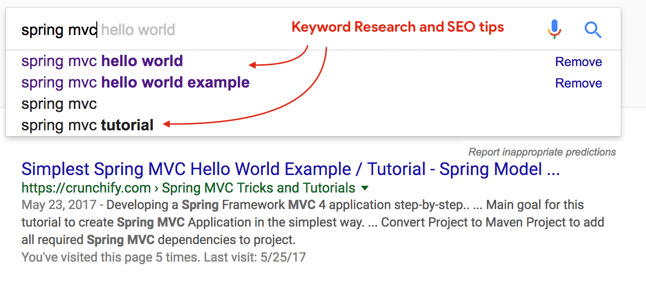 Keyword Research and SEO tips
