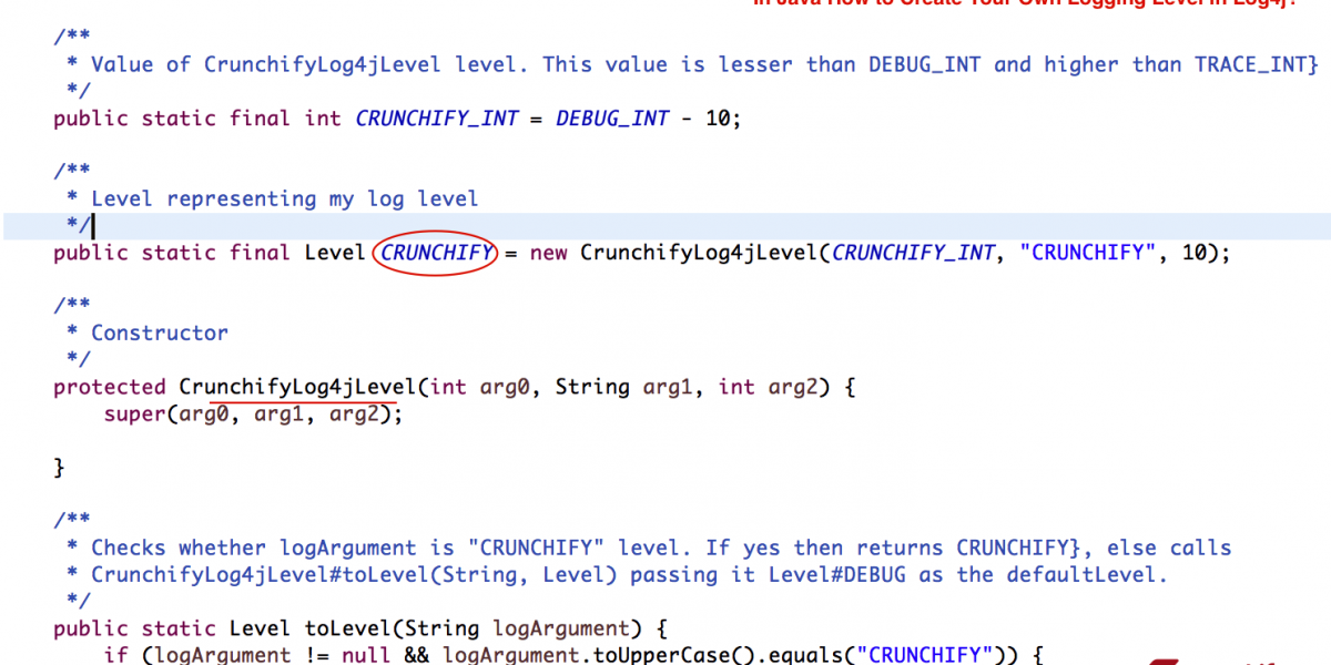 In Java How to Create your own Logging Level using Log4j (Configuring Log4j 2)