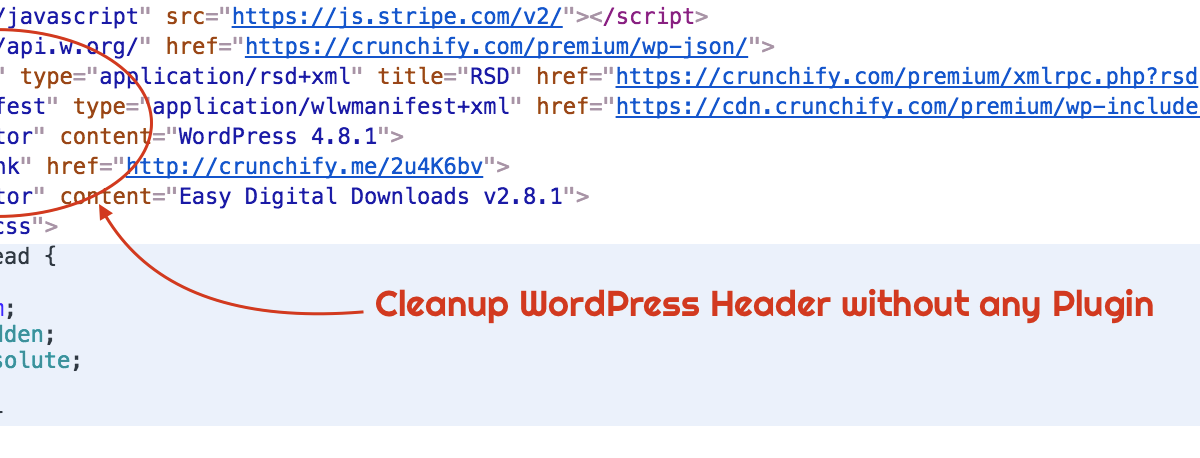 How to Clean up WordPress Header Section without any Plugin?