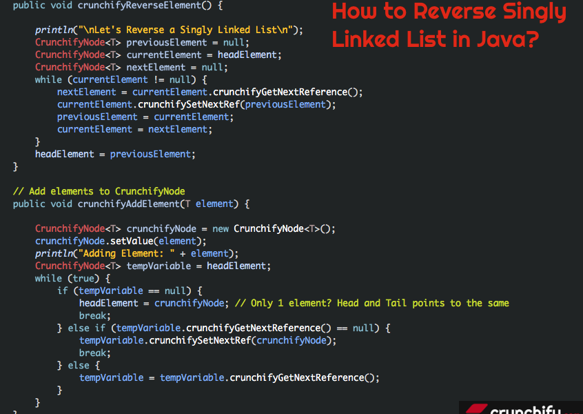 How to Reverse Singly Linked List in Java? (Also Addition, Iterate Methods)
