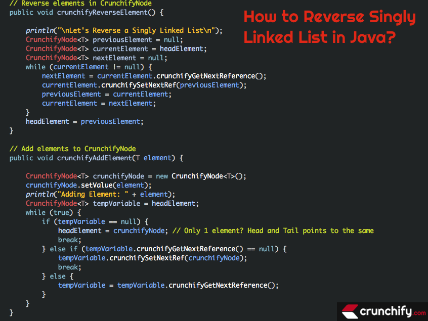 How to Reverse Singly Linked List in Java