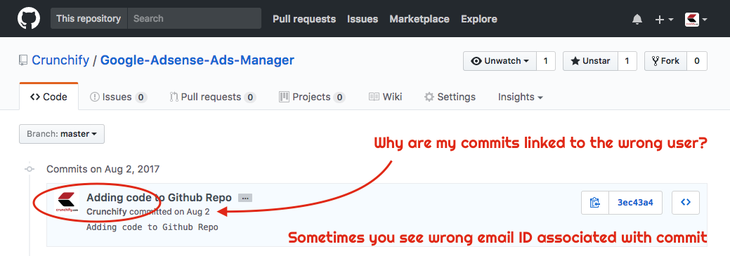 Why are my commits linked to the wrong user?