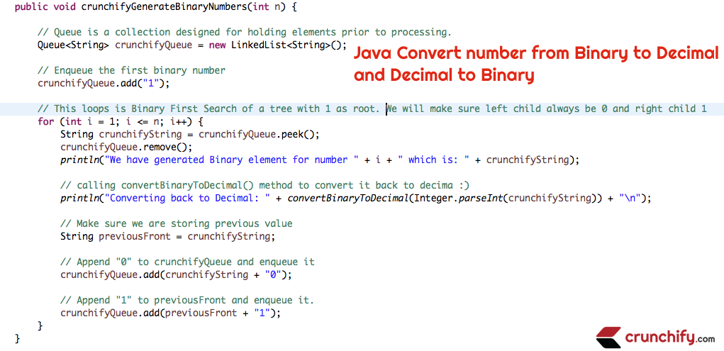 In Java How to convert number from Binary to Decimal & Decimal to Binary