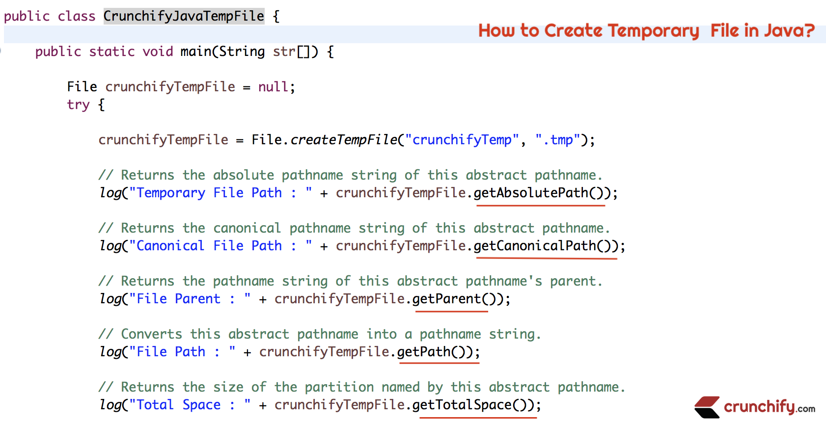 How to Create Temporary File in Java?