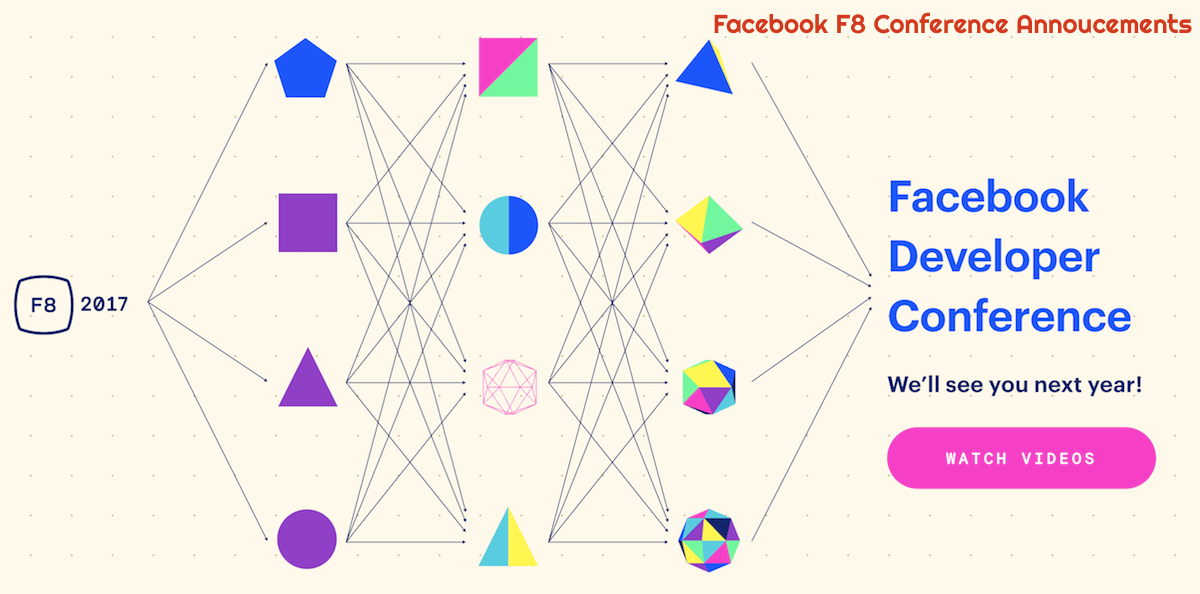 Facebook F8 conference announcements