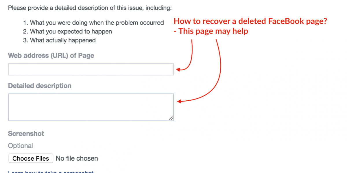 How to Recover a Deleted FaceBook Page?