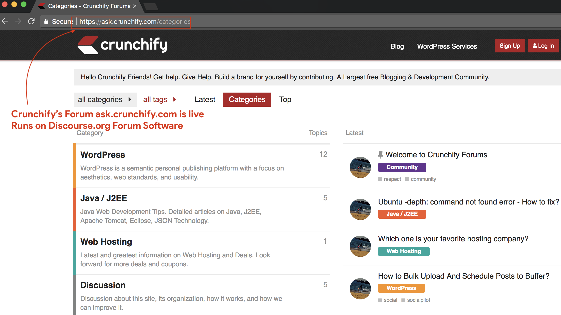 Crunchify's Forum ask.crunchify.com is live